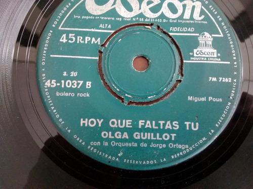 vinilo single de olga guillot - escandalo ( e40