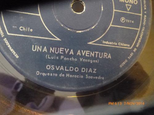 vinilo single de osvaldo diaz --una nueva aventura  ( i80