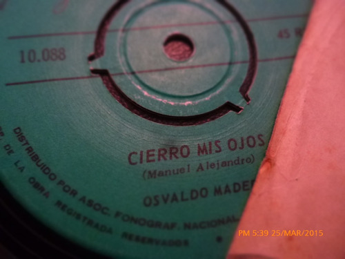 vinilo single de osvaldo madera -ximena ( c148
