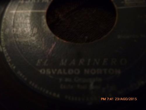 vinilo single de osvaldo norton -- el marinero  ( n10