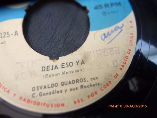 vinilo single de osvaldo quadros - nada ( u131