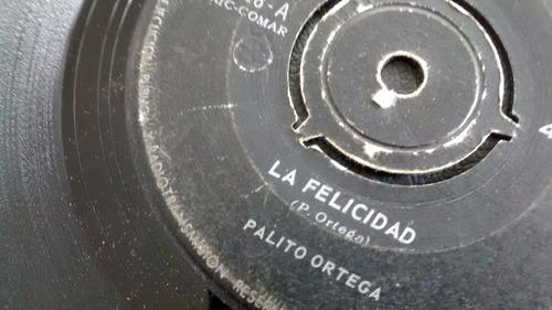 vinilo single de palito ortega -- felicidad ( c5