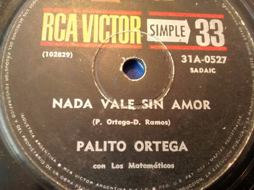 vinilo single de palito ortega - nada vale sin amor ( p14