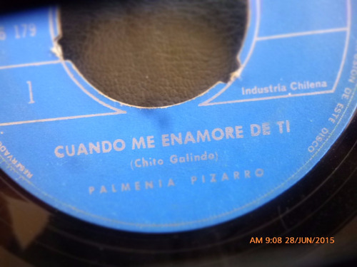 vinilo single de palmenia pizarro - cuando me enamore( r93