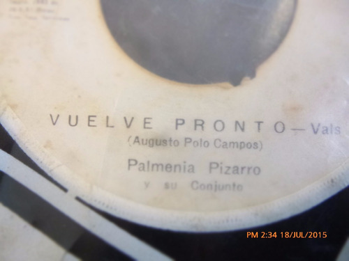 vinilo single de palmenia pizarro - desprecio  ( i20