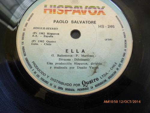 vinilo single de paolo salvatore --  ella ( b25