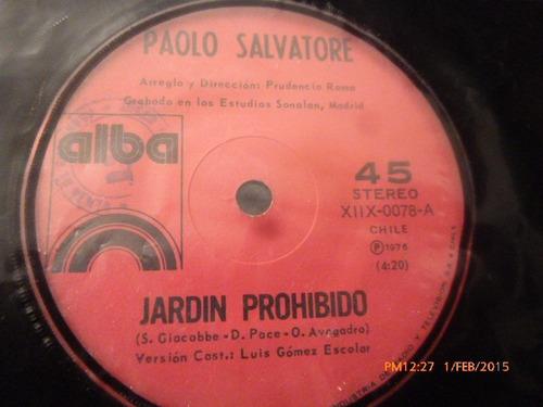 vinilo single de paolo salvatore - jardin prohibido ( i24