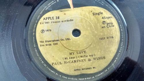 vinilo  single de - paul maccarney -- muy love ( k13