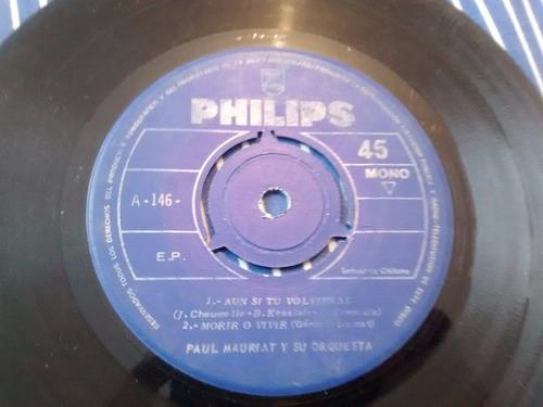 vinilo single de paul mauriat - morir o vivr( k55