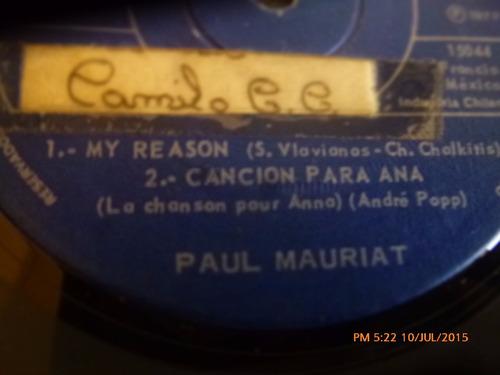 vinilo single de paul mauriat - tema del padrino ( r69
