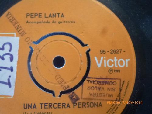 vinilo single de pepe lanta   -- con mi cariño( s83