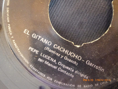 vinilo single de pepe lucena - el gitano cachuncho ( s76