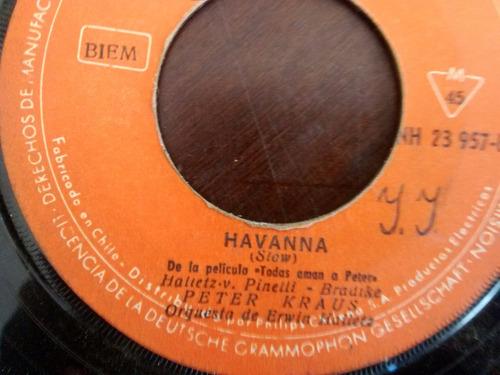 vinilo single de peter kraus - havanna( e29