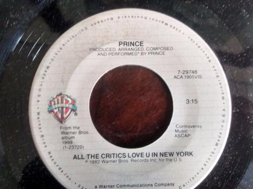 vinilo single de prince - little red corvette ( t54