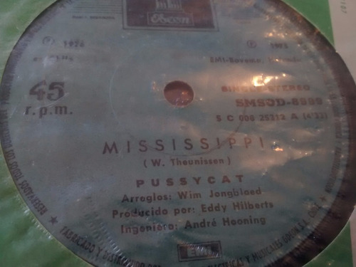 vinilo single de pussycat -  mississippi ( t25
