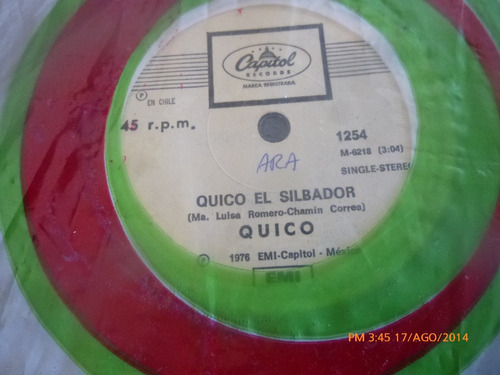 vinilo single   de quico -- no llores quico ( b107