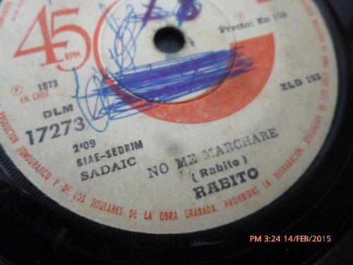 vinilo single de rabito -- un hombre enamorado (a575
