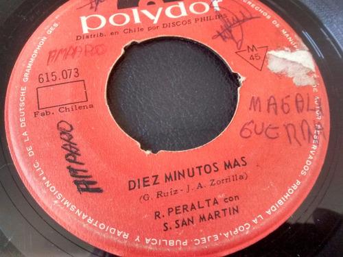 vinilo single de rafael peralta - diez minutos mas ( t32