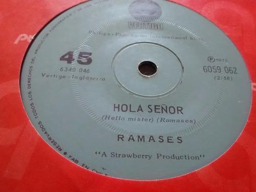 vinilo single de ramases - hola señor ( c140