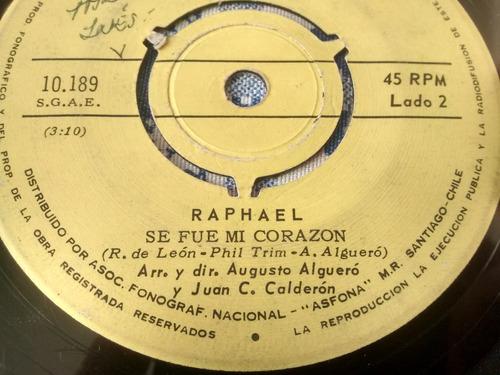 vinilo single de raphael - eres tu   ( s51