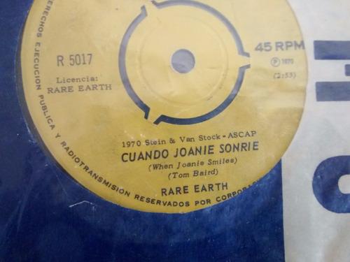 vinilo single de rare earth - cuando joanie sonrie ( u6