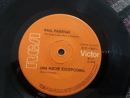 vinilo single de raul padovani una noche ( u30