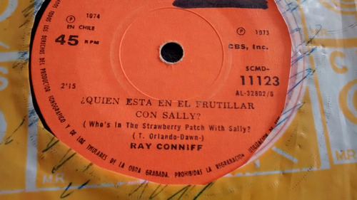 vinilo single de ray conniff - la chica mas linda ( c27