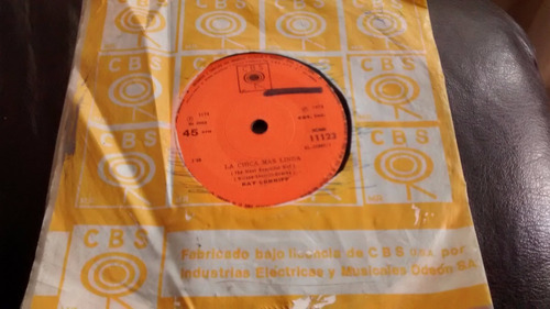vinilo single de ray conniff - la chica mas linda ( c27