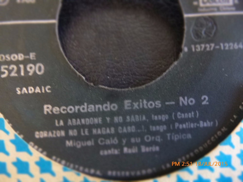 vinilo single de recordando exitos 2 -- al compas del ( r54