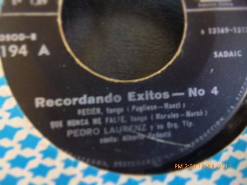 vinilo single de recordando exitos 4 -- la pastora ( r49