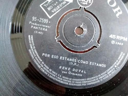 vinilo single de rene duval  - el burrito ( c31