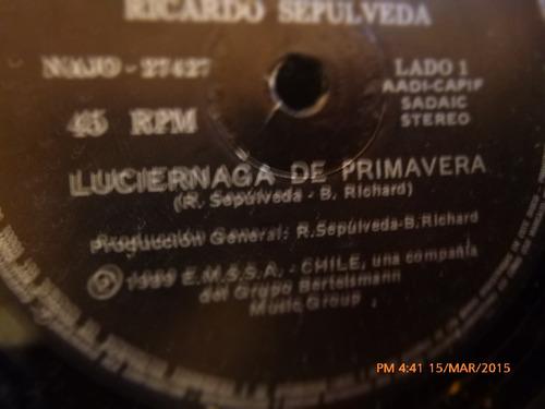 vinilo single de ricardo sepulveda -- luciernaga de pr ( i71