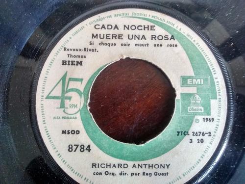 vinilo single de richard anthony - poema de amor ( q74
