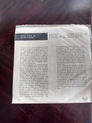 vinilo single de richard strauss -el caballero de la  ( r3