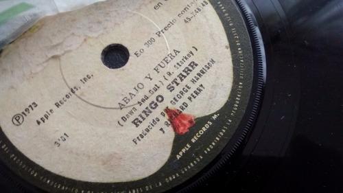 vinilo single de ringo starr --fotografia   ( u75