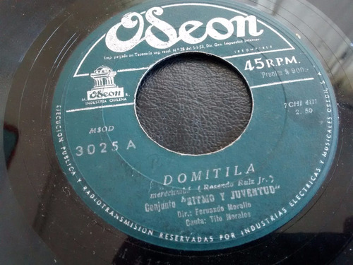 vinilo single de ritmo y juventud  -- domitila ( c43