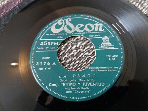 vinilo single de ritmo y juventud la luna es den (v155