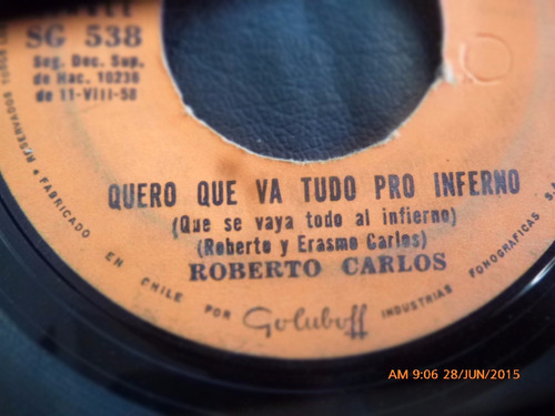 vinilo single de roberto carlos -- pega ladrao ( n99