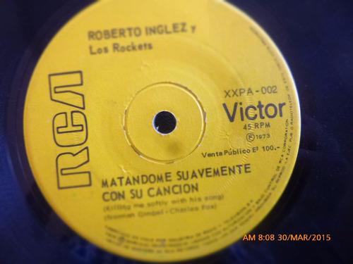 vinilo single de roberto inglez -ata una cinta amarill ( a34