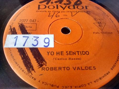 vinilo  single de roberto valdes  ya van 20 años  ( c98