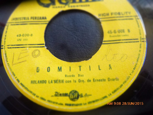 vinilo single de rolando laserie --domitila  ( r95