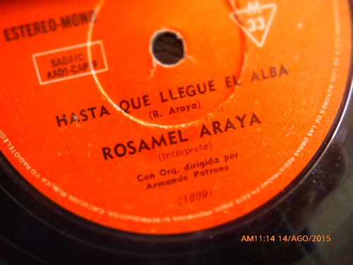 vinilo single de rosamel araya -- hasta que llegue   ( n25