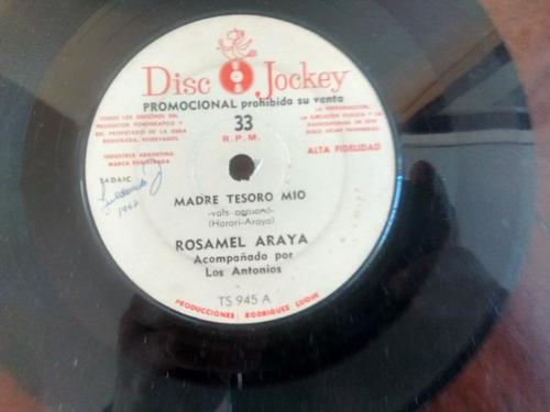 vinilo  single de rosamel araya - madre tesoro mio ( n147