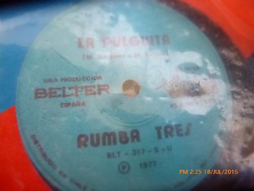 vinilo single de rumba tres -- tiburon ( r83