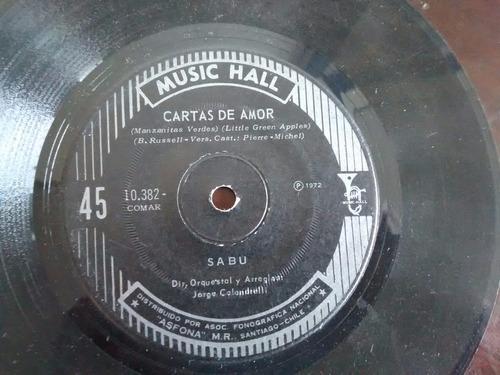 vinilo single de sabu - cartas de amor ( j85
