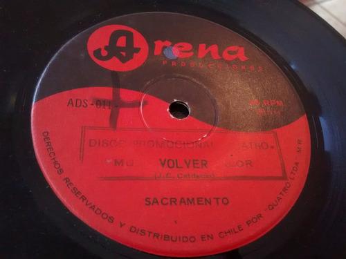vinilo single de sacramento - volver ( p90
