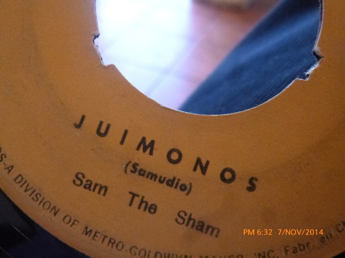 vinilo single de sam the sham - juimonos( s100