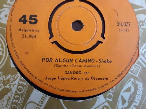 vinilo single de sandro  -     asi  (a286 i98