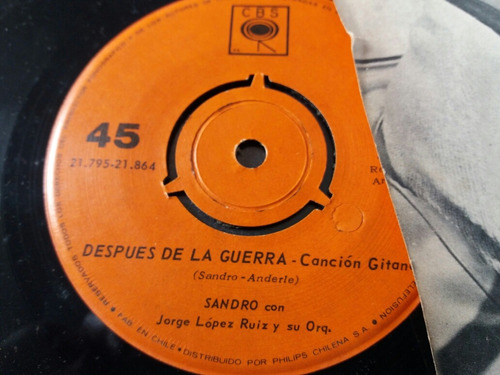 vinilo single de sandro ave de pasó (v120