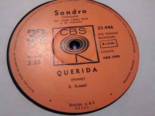 vinilo single de sandro - querida  ( f24